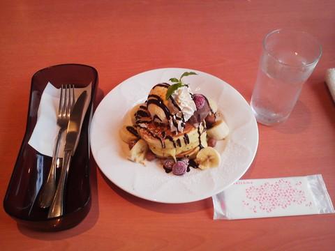バースデーパンケーキ¥0-1 デニーズ猪高店