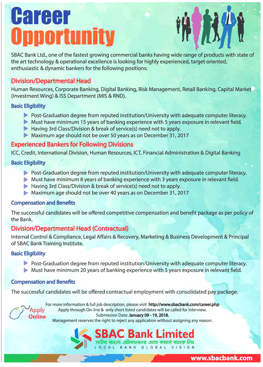 South Bangla Agriculture and Commerce Bank Limited Job Circular 2018 ...