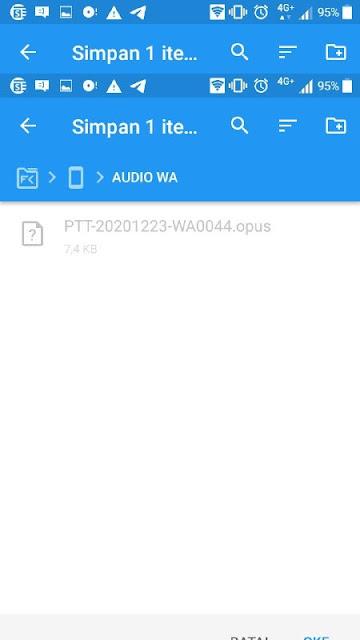 simpan audio Wa ke dalam satu folder
