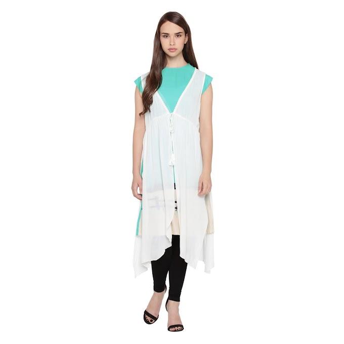 Rs,293/- Rangmanch by Pantaloons Women's Rayon Straight Kurta