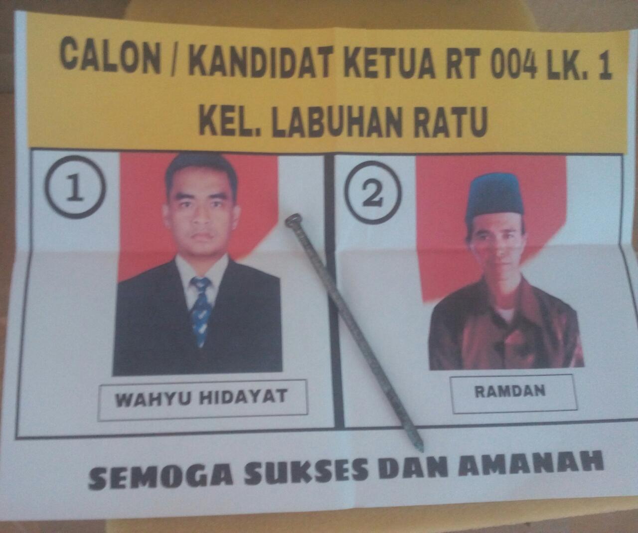 Pemilihan RT 04 Labuhan Ratu Akhirnya di Gelar, Ramdan Pemenang