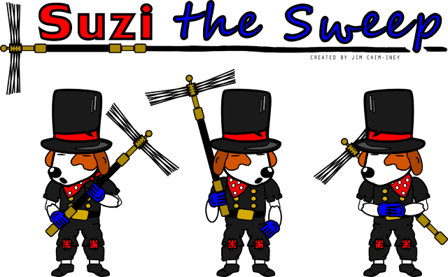 Suzi the nezard sweep indie game artwork