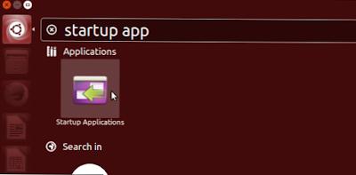 Tutorial Setting Startup aplikasi di Ubuntu