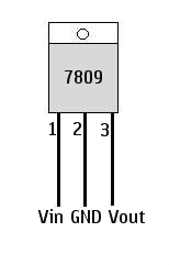 Phone Area: Circuit diagram of 9 volt regulated power supply using 7809