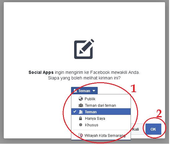 Cara Share Sertifikat Facebook