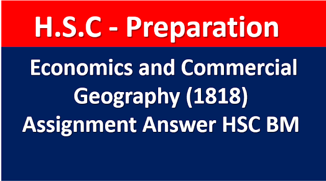 Economics and Commercial Geography (1818) Assignment Answer HSC BM