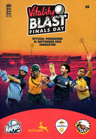 Vitality Blast Finals Day 2019 programme
