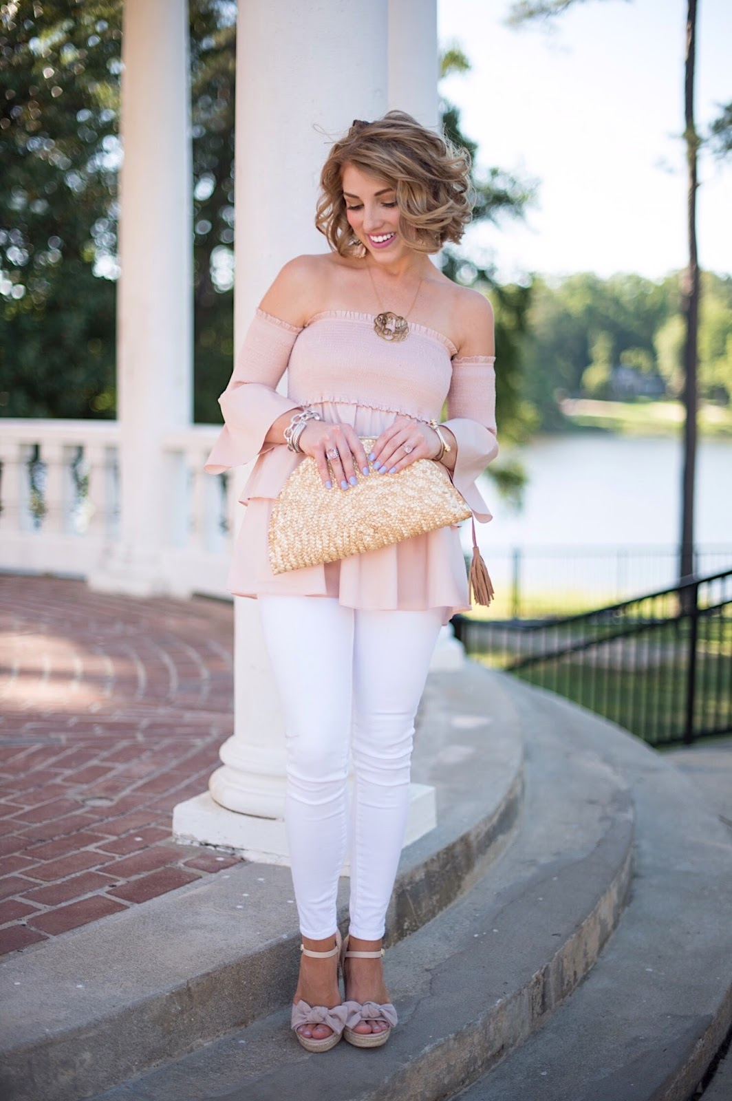 Half-moon Straw Clutch - Click through to see more on Something Delightful Blog :)