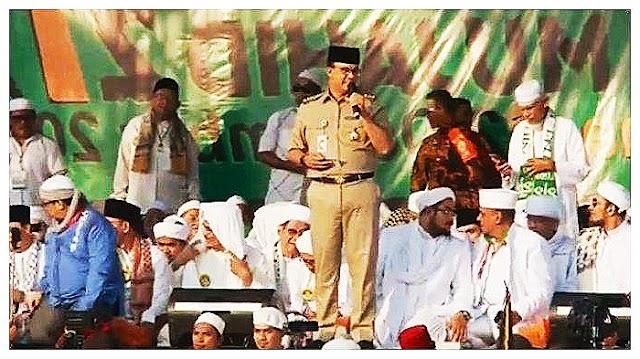 Hadir di Reuni 212 , Anies Baswedan Beri Sambutan