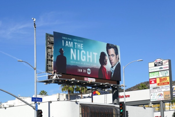 I Am the Night series launch billboard