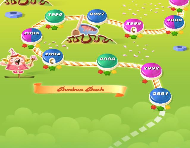 Candy Crush Saga level 2991-3005