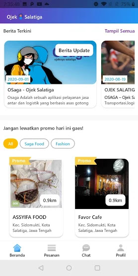 OSAGA ojek online & food delivery lokal Salatiga sudah resmi hadir di Play Store