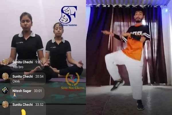 faridabad-online-yoga-and-jumba-session-started