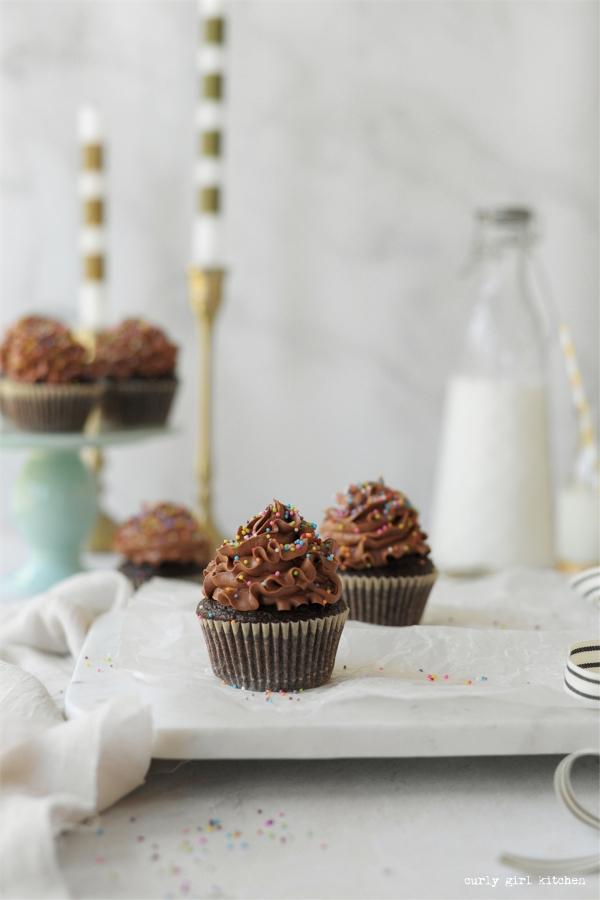 Chocolate Cupcakes Recipe, High Altitude Chocolate Cupcakes, Chocolate Sprinkle Cupcakes, Chocolate Sour Cream Cupcakes