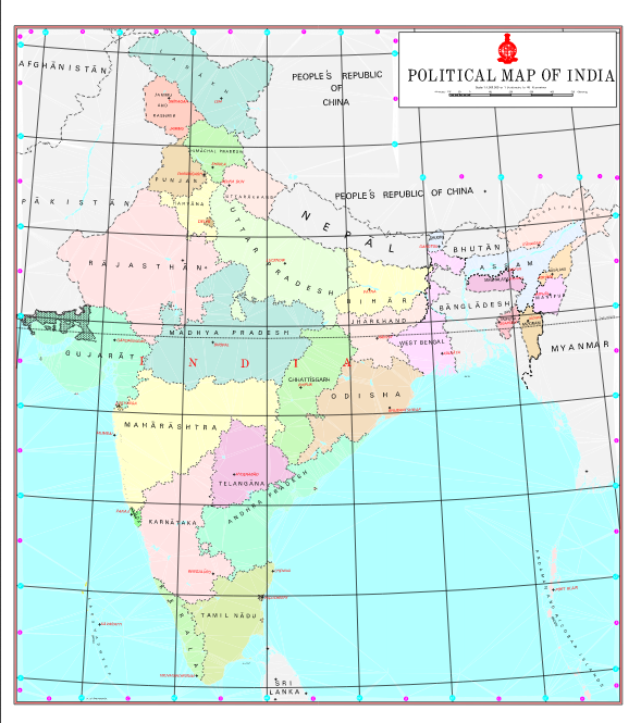New politicalmap of India