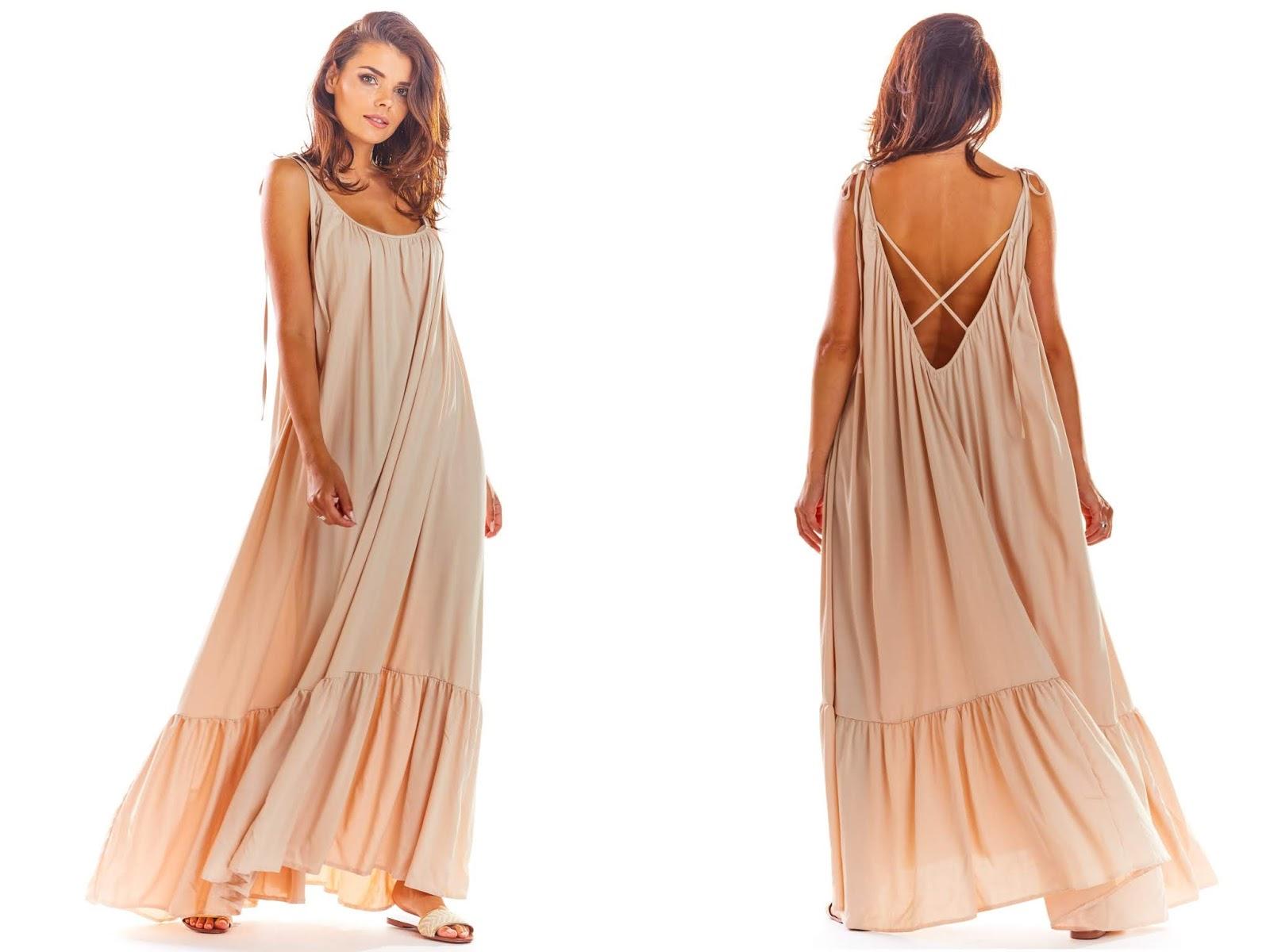 Sukienka maxi z odkrytymi plecami