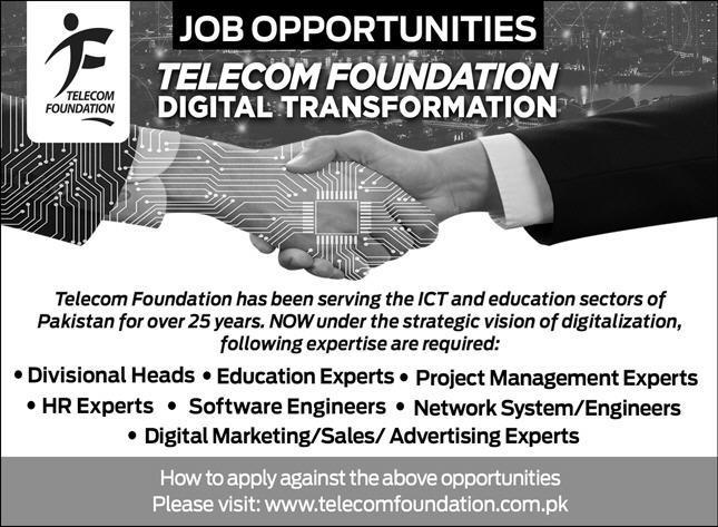 Telecom Foundation Digital Transformation Islamabad Jobs