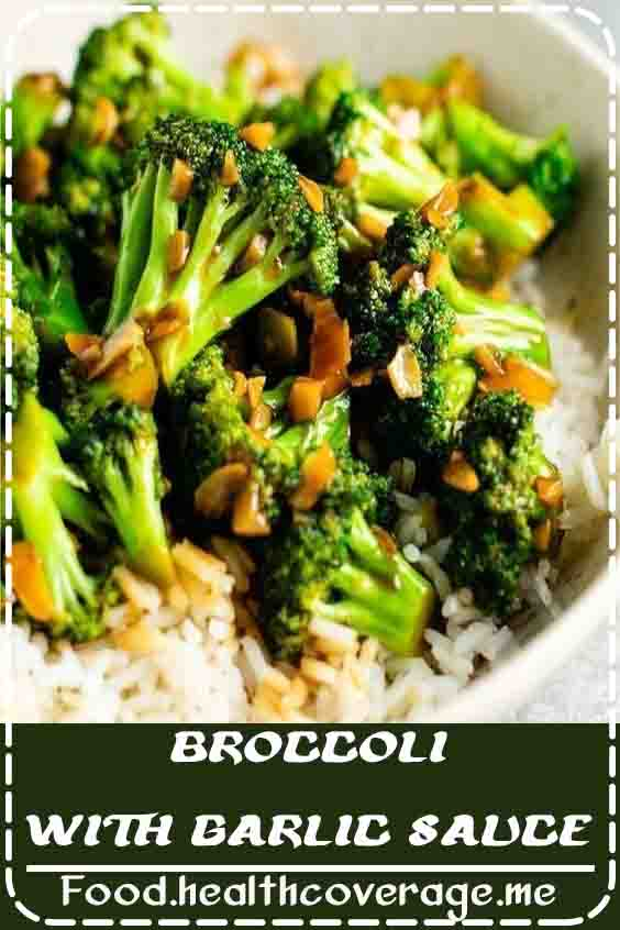 Easy and delicious chinese broccoli with garlic sauce - this tastes just like your favorite takeout!