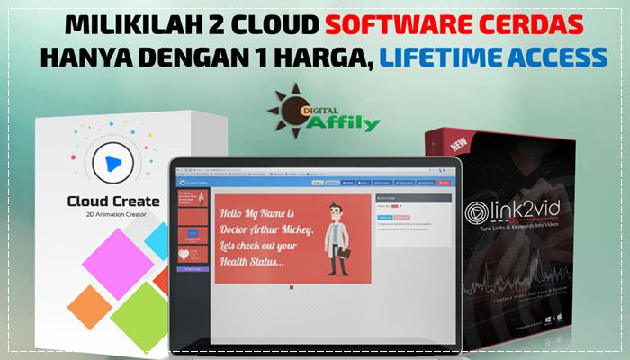 2 Cloud Software Video Cerdas, Lifetime Access