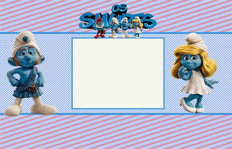The Smurfs Free Printable Invitations or Photo Frames Oh My