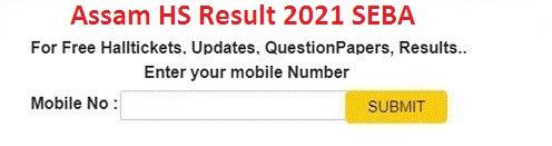 Assam HS Result 2021 SEBA 12th Result