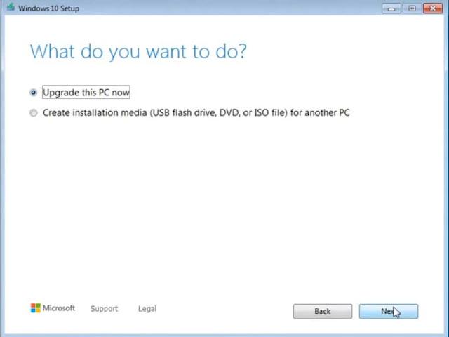 ترقية ويندوز 7 إلى ويندوز 10 مجانا دون فورمات و بدون فلاشة usb أو أسطوانة Dvd
