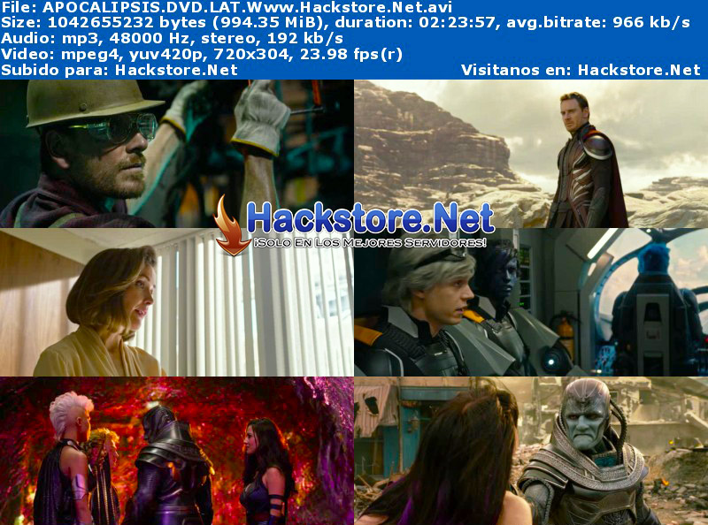 Capturas de X-Men: Apocalipsis (2016) DVDRip Latino