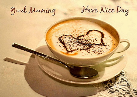 Heart Shape Romantic Good Morning Coffee for Lovers