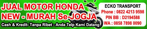 jual motor honda new baru jogja murah cash kredit