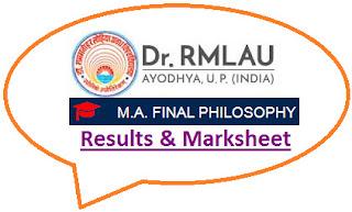 RMLAU MA Philosophy Final Result 2021