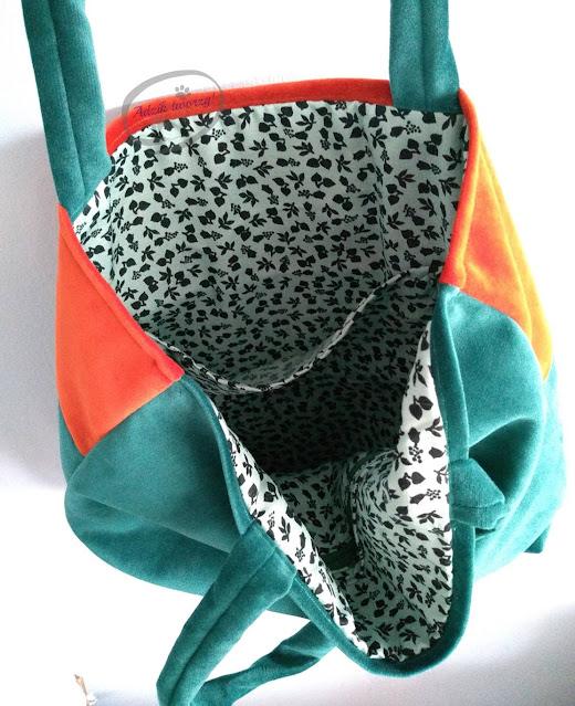 materiałowa torba handmade rękodzieło - Adzik tworzy