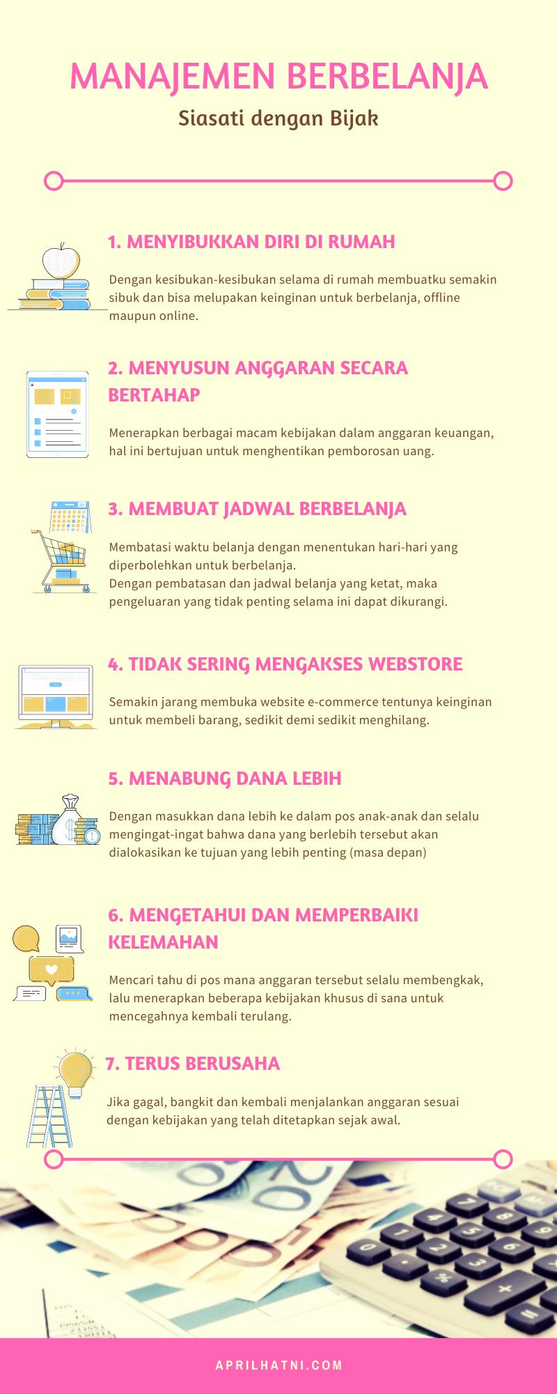 manajemen berbelanja infografis