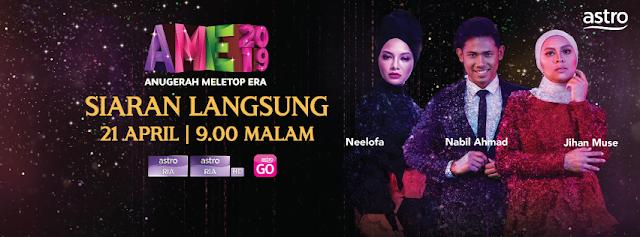 AME 2019 - Senarai Finalis Anugerah Meletop ERA 2019