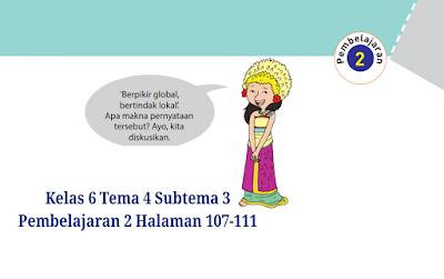 Kunci Jawaban Buku Tematik Tema 4 Kelas 6 Halaman 107, 108 ...