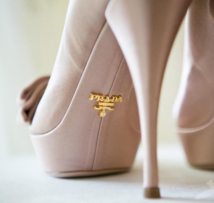 scarpe da sposa prada rosa