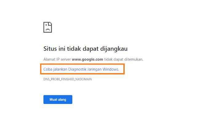 """Mengatasi """"Situs Ini Tidak Dapat Dijangkau"""" Pada Google Adsanse dan Google Webmaster"""