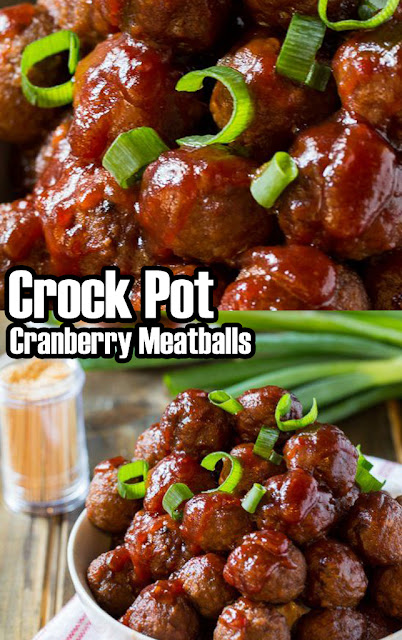 Easy Recipe, Crock Pot Cranberry Meatballs #recipe #crockpot #easyrecipe