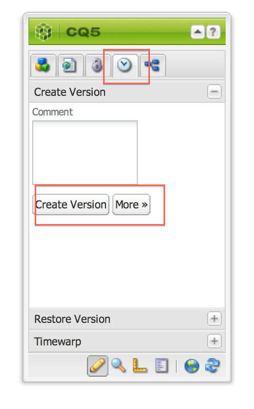 Adobe CQ/Adobe AEM: How to work with Version in CQ