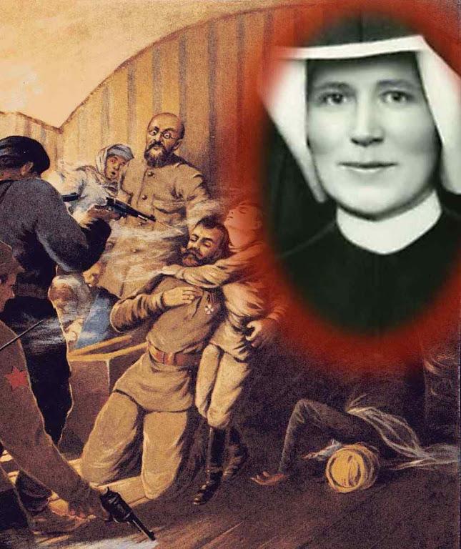 """Massacre da Família Imperial russa. Deus a Santa Faustina (no destaque) """"Eu não aguento mais esse país"""""""