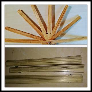 rangka kipas dari bambu