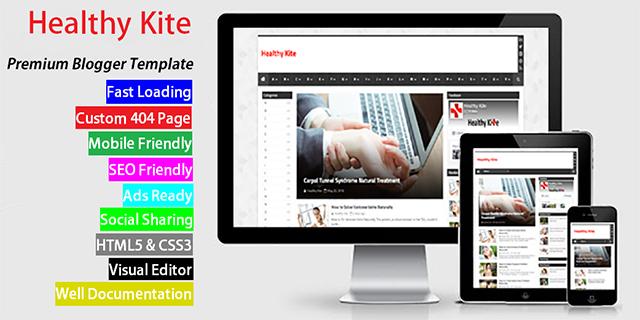 Healthy kite Premium blogger template Free