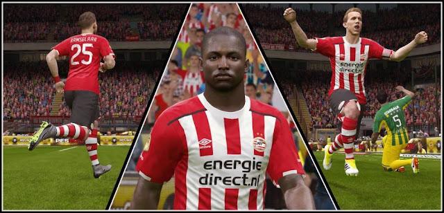 PES 2016 PSV Eindhoven Kit Season 2016-2017