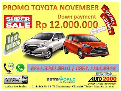 Promo Toyota DP MURAH    Akhir Tahun