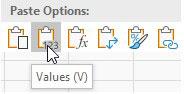 ikon paste value