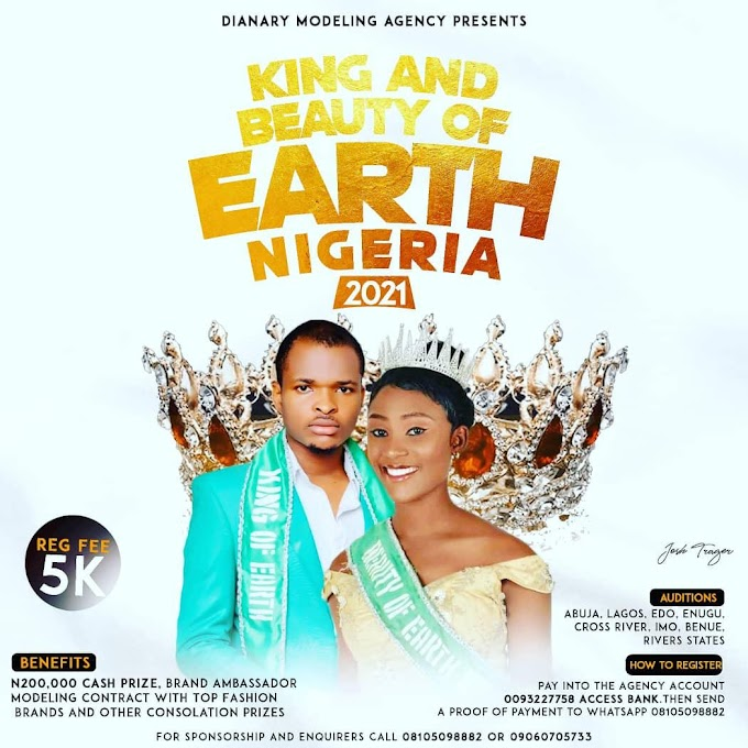 KING AND BEAUTY OF EARTH NIGERIA KICK STARTS REGISTRATION