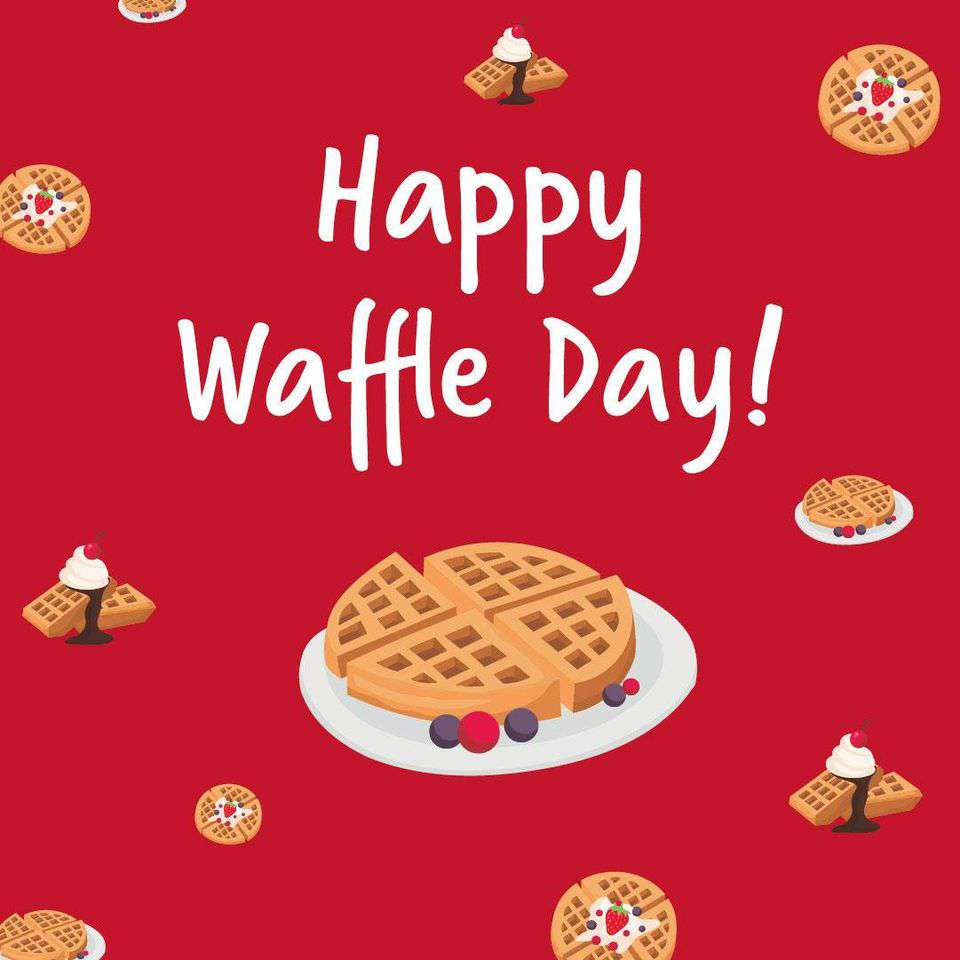 International Waffle Day Wishes Pics