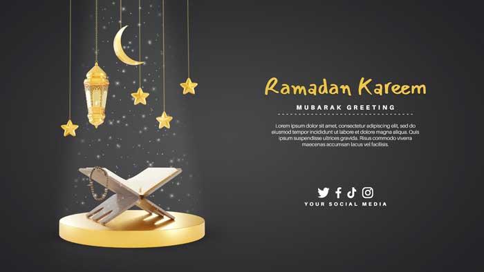 Special Ramadan PSD Banner