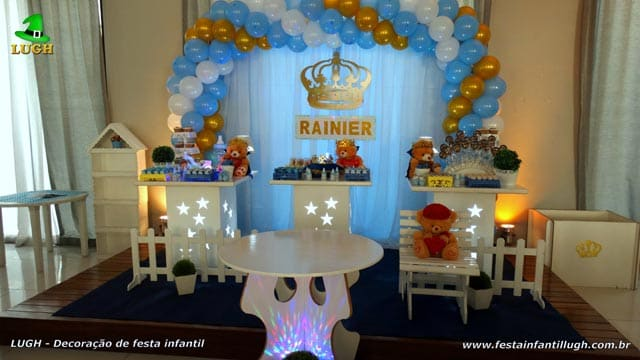 Decoração de mesa temática para festa de aniversário infantil de 1 ano