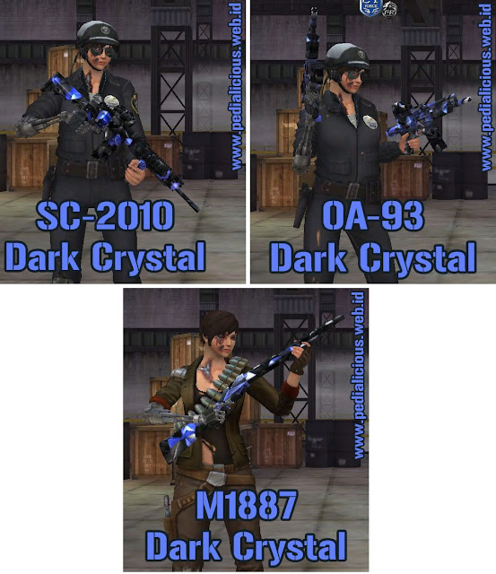 Preview Senjata Rules Seri Dark Crystal Point Blank Zepetto Indonesia