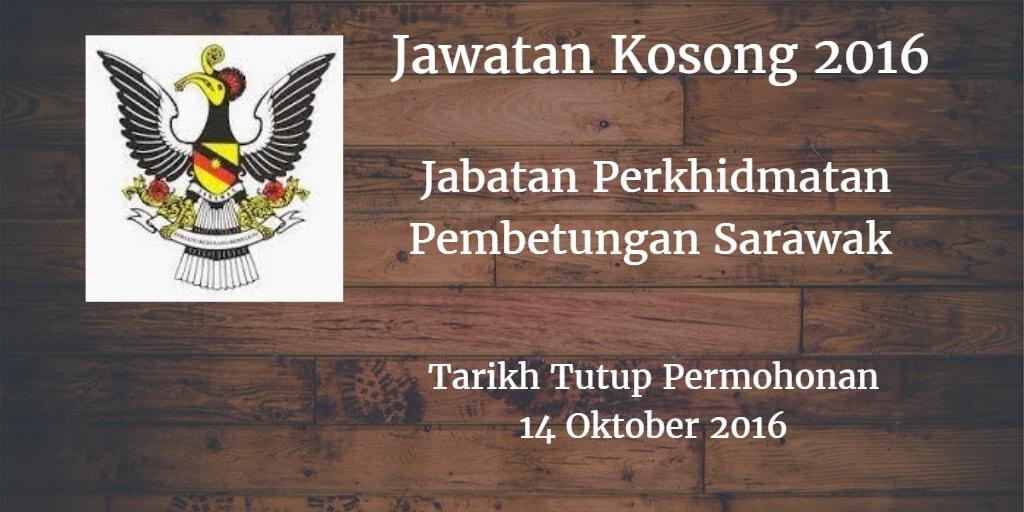 Jawatan Kosong Jabatan Perkhidmatan Pembetungan Sarawak 14 Oktober 2016